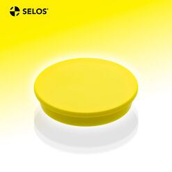 Office magnet, ferrite, round, yellow