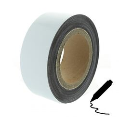 Magnetic tape 10 m, white glossy (flipchart surface)