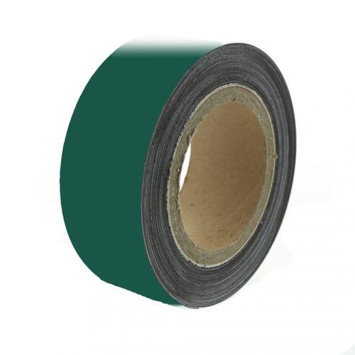 Magnetic tape 10 m, green matte