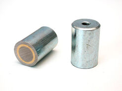 Pot magnet cylindrical with internal thread, AlNiCo