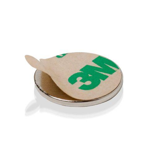 Neodymium disc, adhesive (set of 2 pieces)
