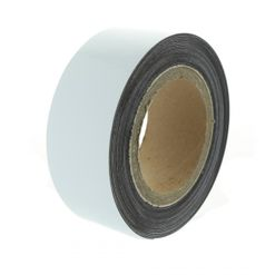 Magnetic tape 10 mtr, white matte