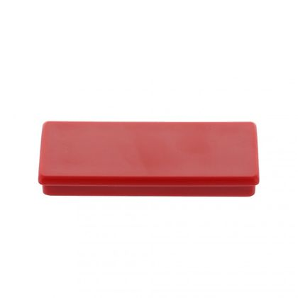 Office magnet, ferrite, square, red