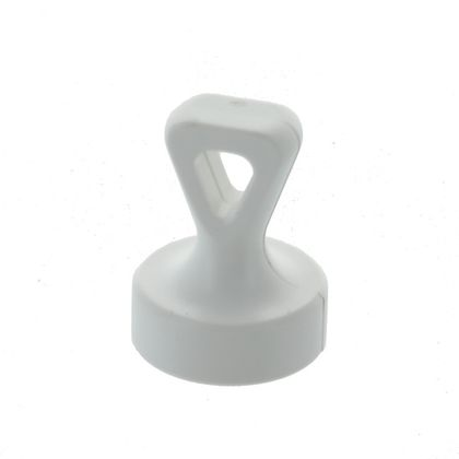 Office magnet with handle, hooked eye, white
