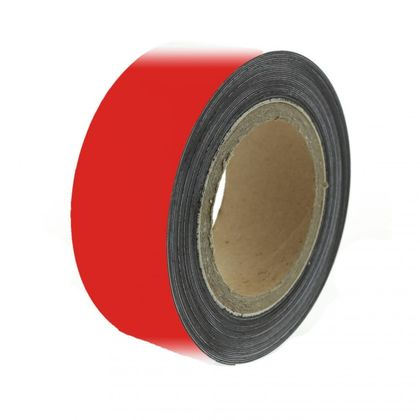 Magnetic tape 10 m, red matte