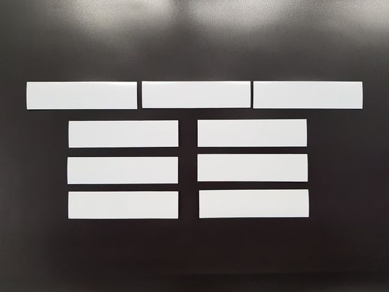 Magnetic labels, white glossy