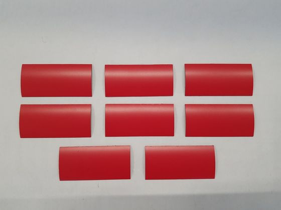 Magnetic labels, red matte
