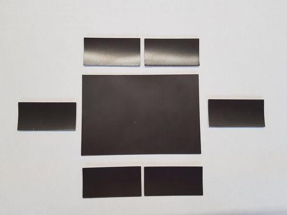 Magnetic labels, plain brown