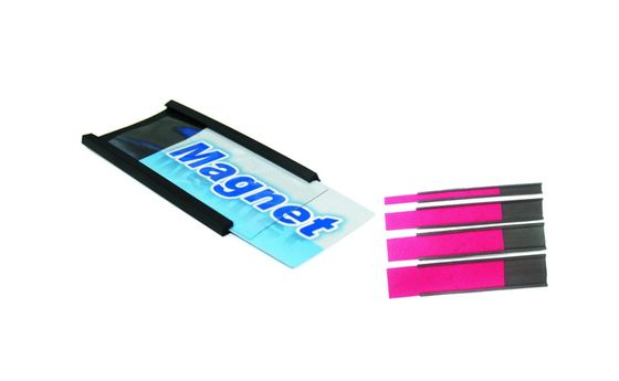 Magnetic C-profile with paper card